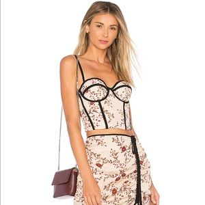 x REVOLVE Abba Bustier in Dusk Floral